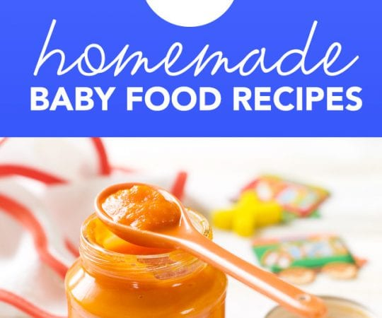 There is no reason to buy store-bought baby food! It is so easy to make your own wholesome baby food at home. Here are my favorite recipes.