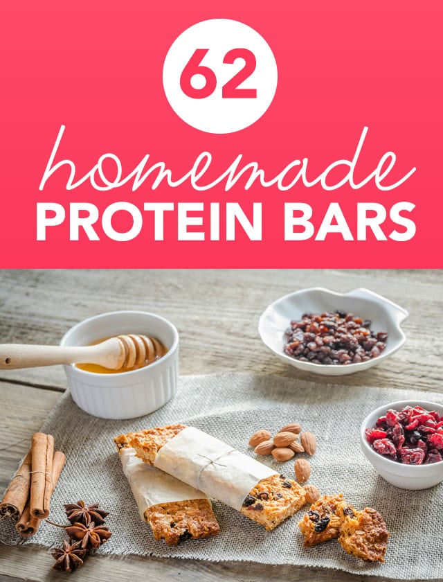 Next time your looking for a protein boost, don't pick up that prepackaged protein bar! Making your own homemade protein bars is so easy and so much healthier than store-bought ones. This is the holy grail for protein bar recipes and is chock full of ideas so you'll never get bored snacking again.