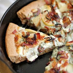 Apple, Bacon, and Blue Cheese Pan Pizza
