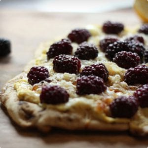 Blackberry Pizza with Whipped Ricotta