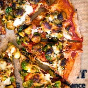 Brussels Sprouts and Pancetta Pizza