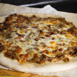 Caramelized Onion and Apple Pizza