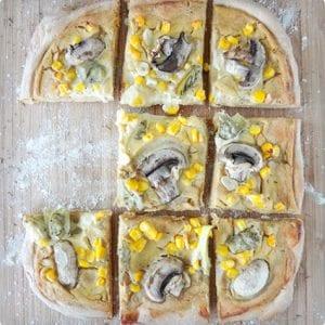 Cauliflower Alfredo Pizza