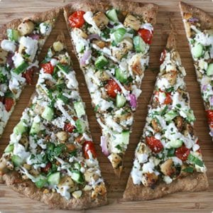 Chicken Souvlaki Pizza