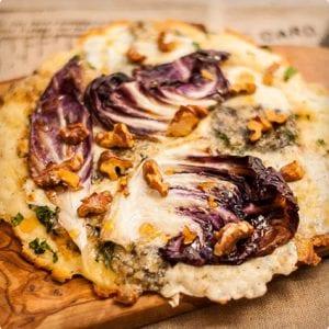 Gorgonzola, Walnut, Truffle Honey, and Radicchio Pizza