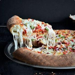 Homemade Stuffed Crust Pizza