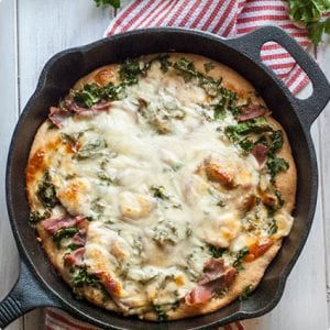 Kale and Prosciutto White Pizza