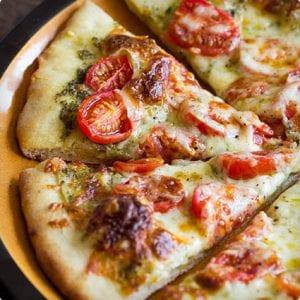 Roasted Tomato Pesto Pizza