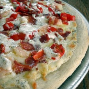 Shrimp and Bacon Ranch Pizza