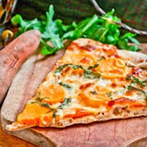 Spelt Thin Crust Sweet Potato Pizza