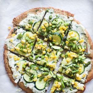 Spring Skillet Flatbreads with Herbed Ricotta and Homemade Whole Wheat Crust