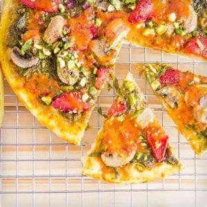 Vegan Berry Basil Pizza