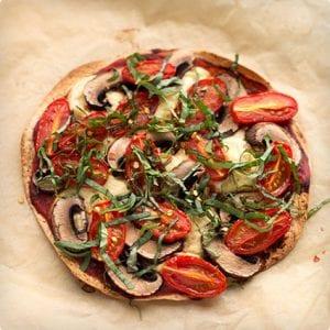 Vegan Personal Tortilla Pizza