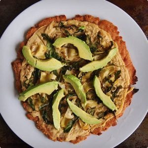 Vegan Spring Vegetable Pizza