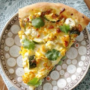 Veggie Curry Pizza