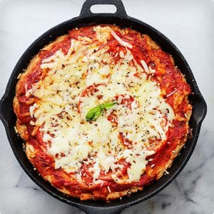 Whole Wheat Deep Dish Skillet Pizza