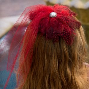 1920's Inspired Red Fascinator Headband