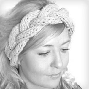 3 Strand Cable Braided Knit Headband