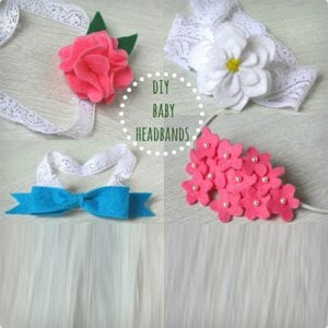 Adorable DIY Baby Headbands