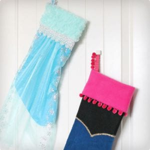 Anna and Elsa Themed Stocking Makeovers