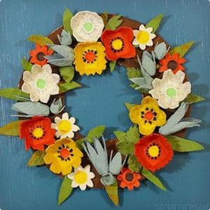 Beautiful Autumn Wreath Made From Egg Cartons