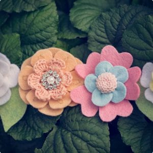 Beautiful Felt Flower Crown Headband