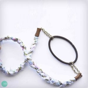 Chain and Floral Convertible Headband/Necklace