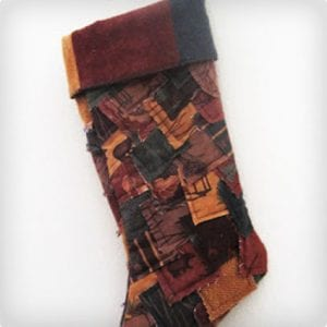 Crazy Flannel Christmas Stocking