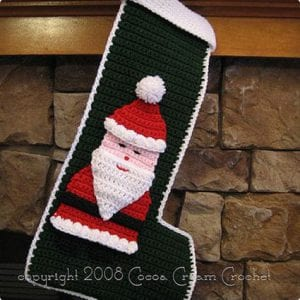 Crocheted Santa Stocking