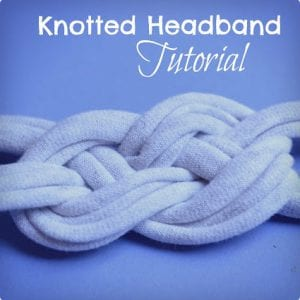 DIY Knotted T-Shirt Headband