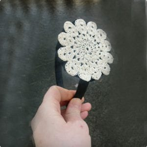 Doily Headband Tutorial