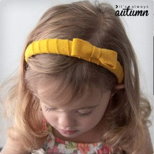 Easy Felt Wrapped Headband With A Bow
