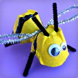 Egg Carton Bee