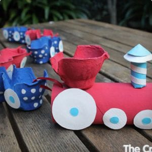 Egg Carton Choo Choo Train