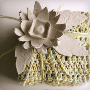 Egg Carton Flower Bow