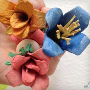 Egg Carton Flower Fairies