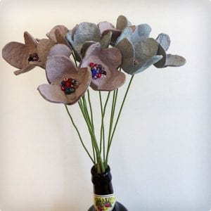 Egg Carton Flowers For Vase or Garland
