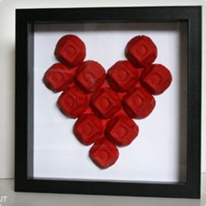 Egg Carton Heart Wall Art