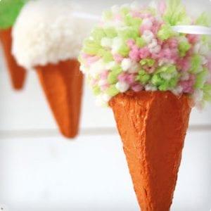 Egg Carton Ice Cream Cone Garland