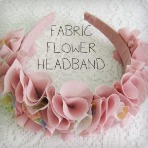 Fabric Flowery Headband Tutorial