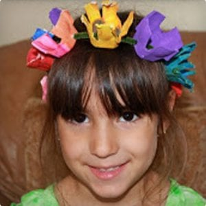 Fairy Crown & Bracelet Made From Egg Cartons