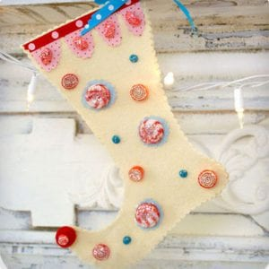 Fanciful No-Sew Stocking