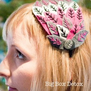 Faux Feather Felt Headband