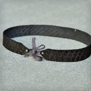Faux Snakeskin Headband