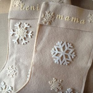 Felt Snowflake Stockings