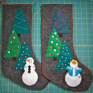 Felt Snowman Stockings