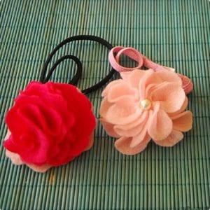 Felt and Pearl Flower Headband for Baby