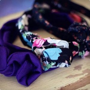 Floral Print and Bow Headband