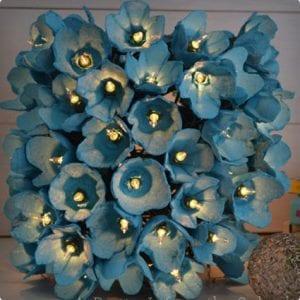 Flowery Egg Carton LED Lamp