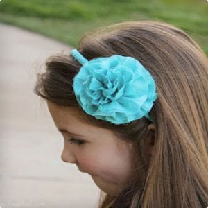 Frayed Flower Headband